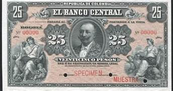 Colombia 25 Pesos banknote World Banknotes & Coins
