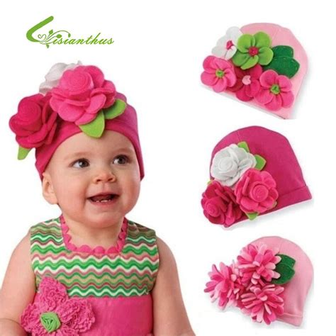 Baby Hats Modeling of Flower Children's Fashion Caps Baby