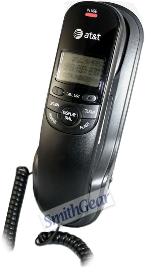 AT&T TR1909 Trimline Corded Phone with Caller ID BLACK