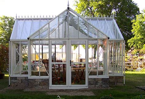 Royal Victorian Orangerie Greenhouse| Gothic Arch Greenhouses