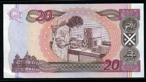 Bank of Scotland money 20 Pounds Sterling note, Sir Walter