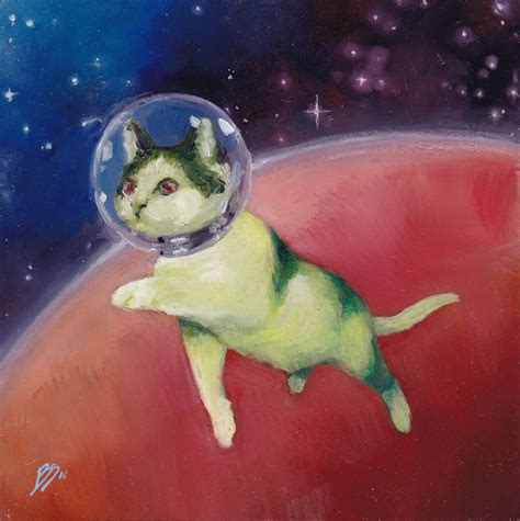 """""""When I Get Tired Of Making Serious Art I Paint Cats In"""