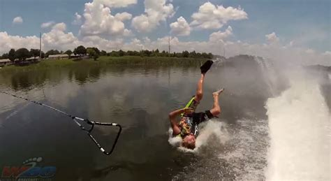 A Compilation of Barefoot WaterSkiing Fails You Can't Stop