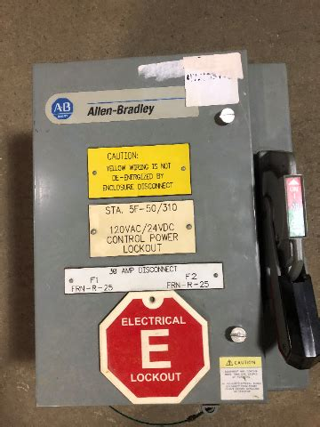 30 Amp 600 Vac Fusible Disconnect Switch 3R 3 Phase Raintight