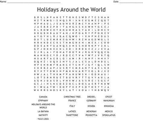 Mat Clipart Kwanzaa - Word Puzzle In English , Transparent