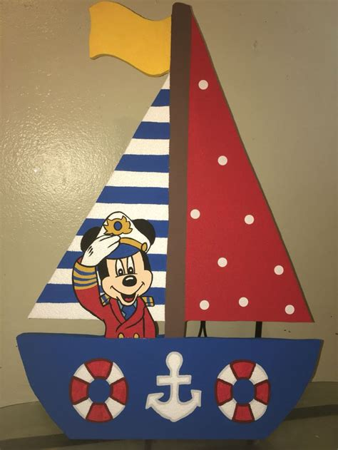 Mickey Mouse nautical sailor foam boat with Mickey captain
