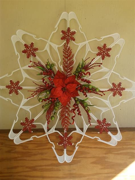 How To Make A Plastic Hanger Snowflake | Home Design