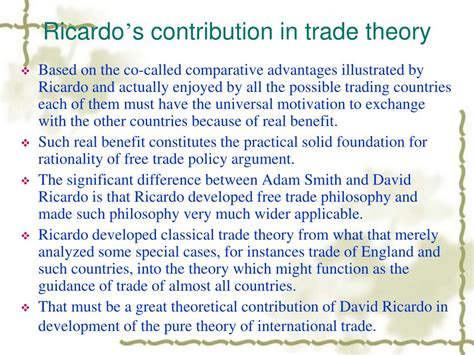 PPT - Comparative Advantages Theory PowerPoint