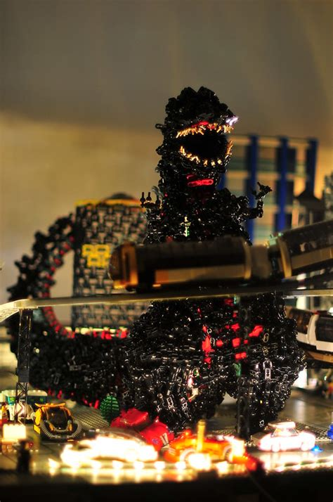 Technically, this LEGO Godzilla is in a thousand pieces