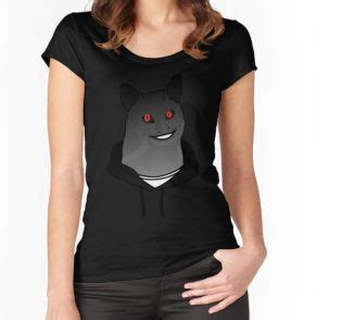 """""""Creepy Cat Guy Smiling"""" by therealsadpanda   Fitted Scoop"""