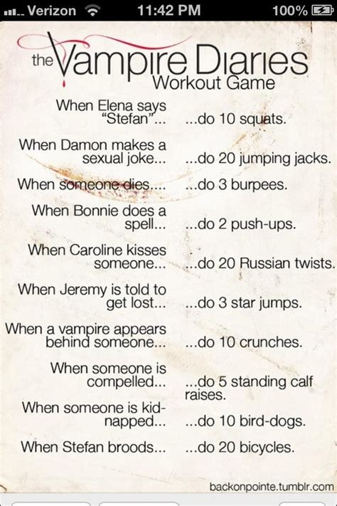 The vampire diaries workout plan - scoopnest