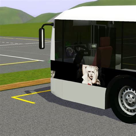 Simming in Magnificent Style: Lady Gaga Tour bus in black