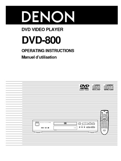 DVD-800 Manuals - Users Guides