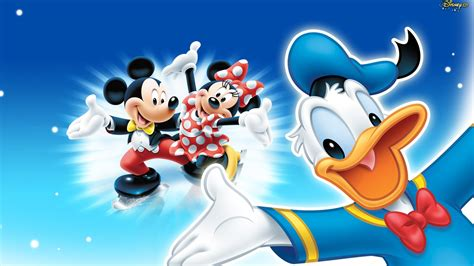 Donald Duck Mickey And Minnie Mouse Cartoons Hd Wallpaper