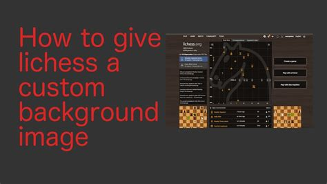 How to put a background image on lichess