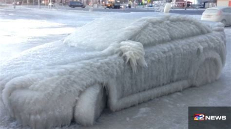 Lake Erie: Car found frozen solid after severe cold hits