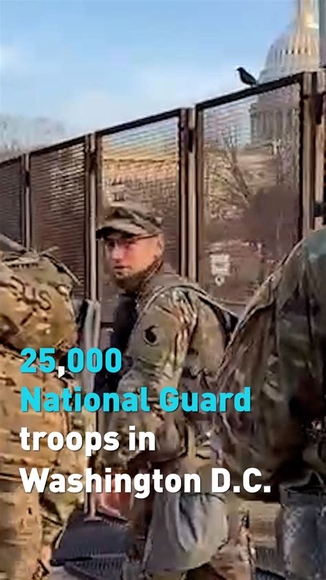 Over 25,000 National Guard troops in Washington, D