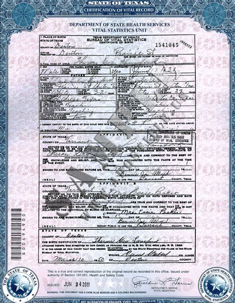 Authentications of Documents - State Texas